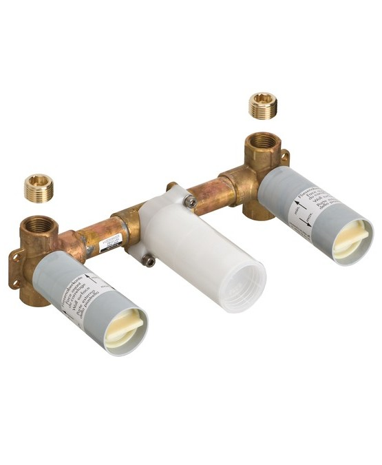 18113180 - Basic set for 3hole wall mixer for concealed installation
