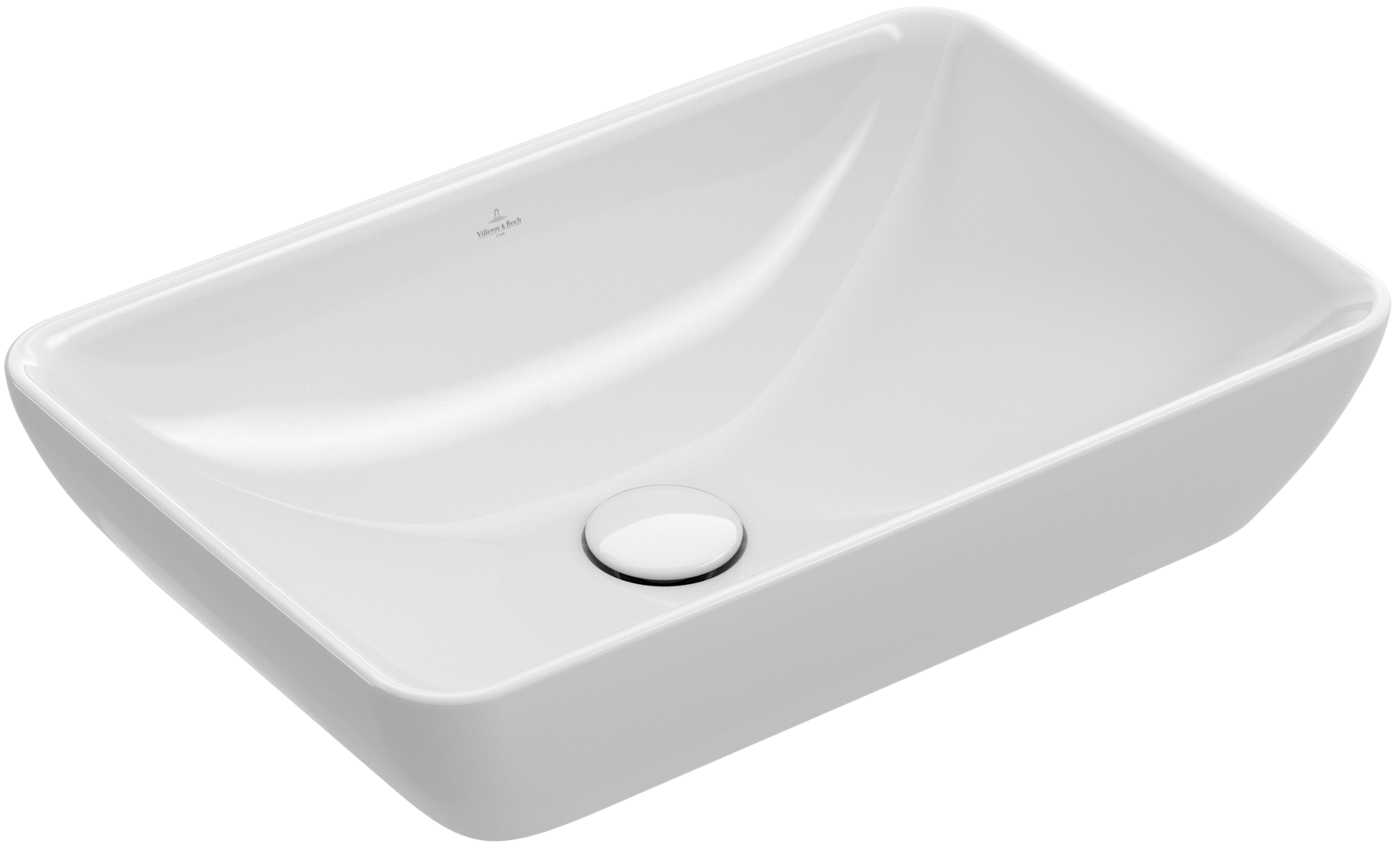 V b venticello semi surface mounted washbasin leigh - Villeroy y bosch ...