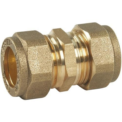 Brass compression coupling leigh plumbing merchants