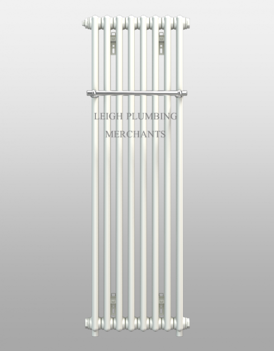 Bisque Classic Towel Radiator With Chrome Rail Leigh